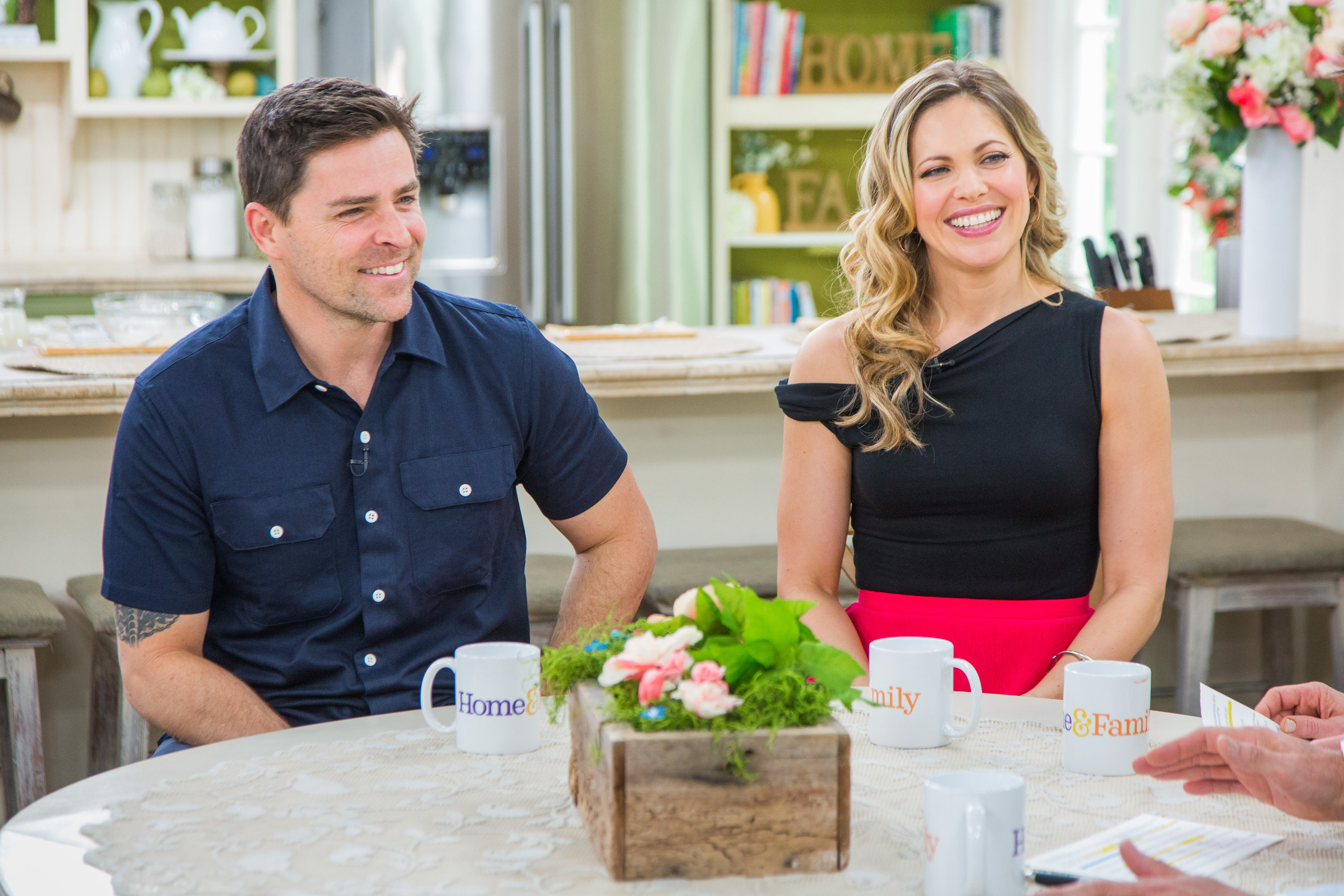 Pascale Hutton And Kavan Smith Stop By Home Family Video