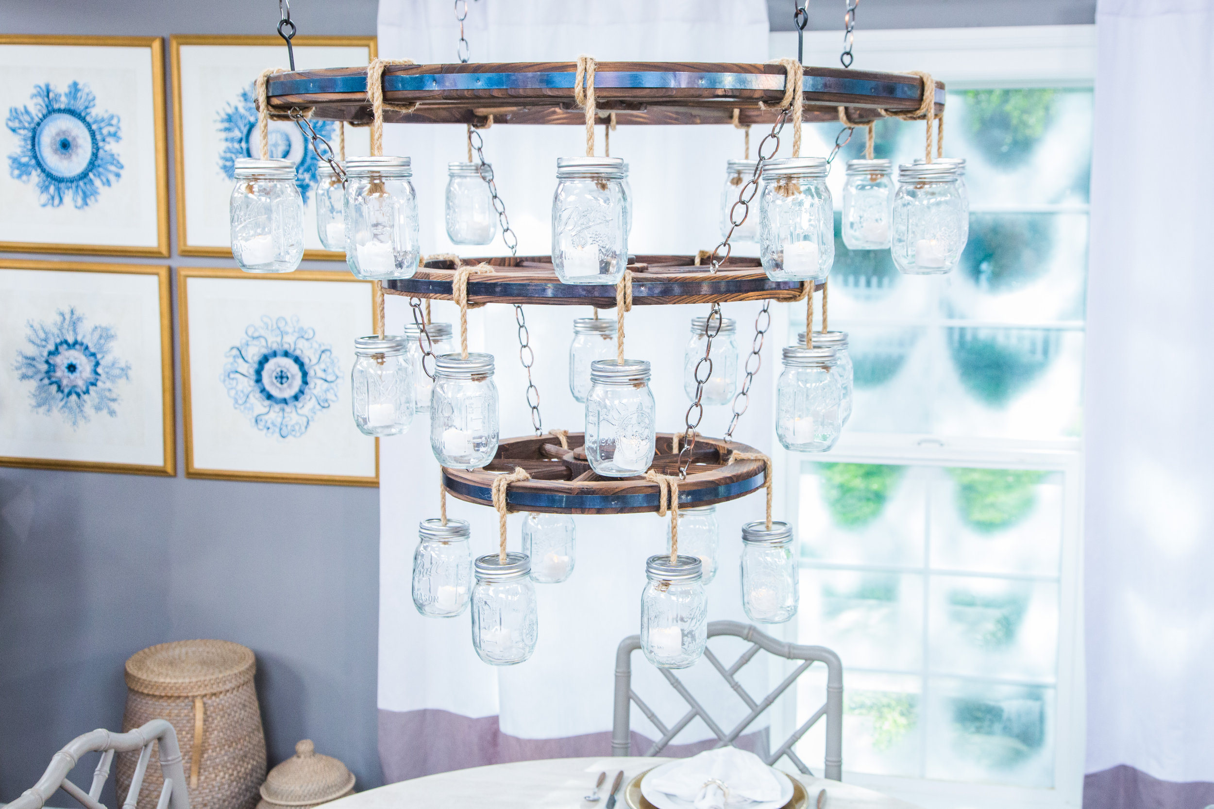 How To Diy Wagon Wheel Chandelier Home Family