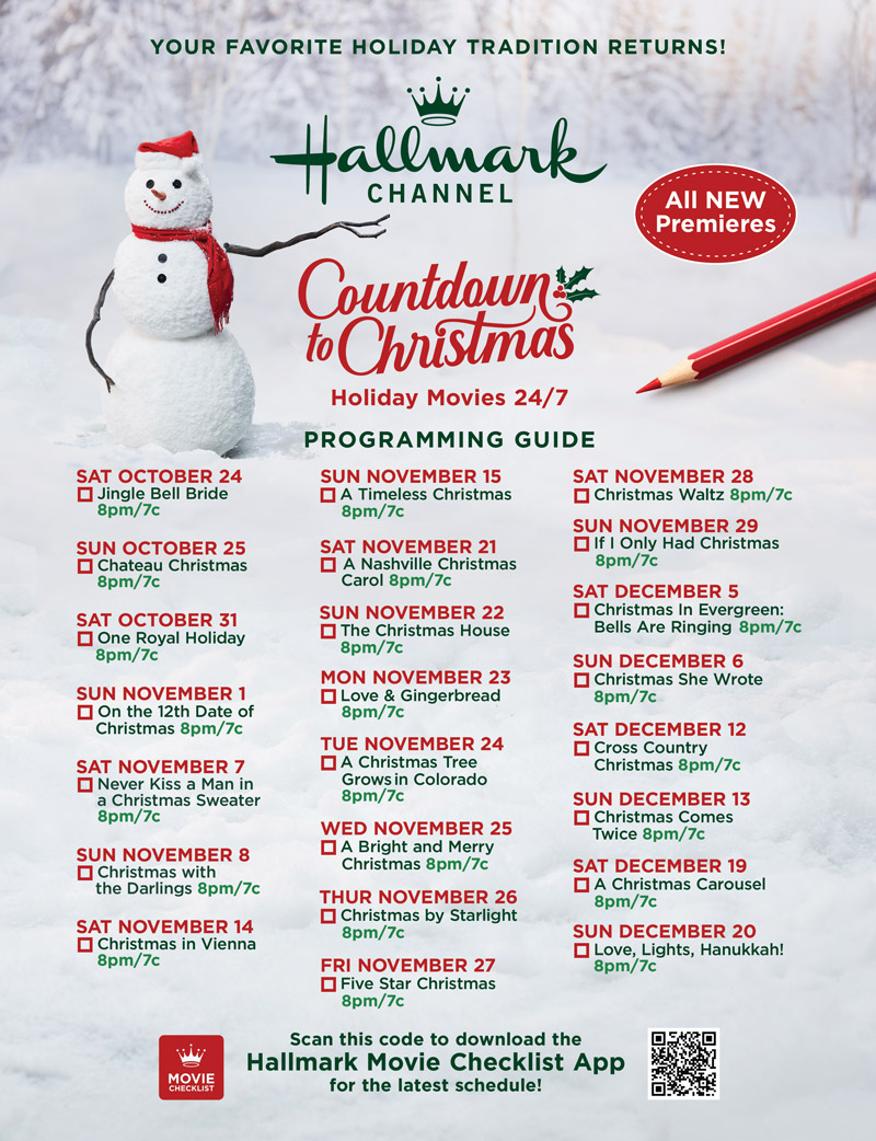 2020 Christmas Schedule Movie Guide   Countdown to Christmas 2020 | Countdown to Christmas