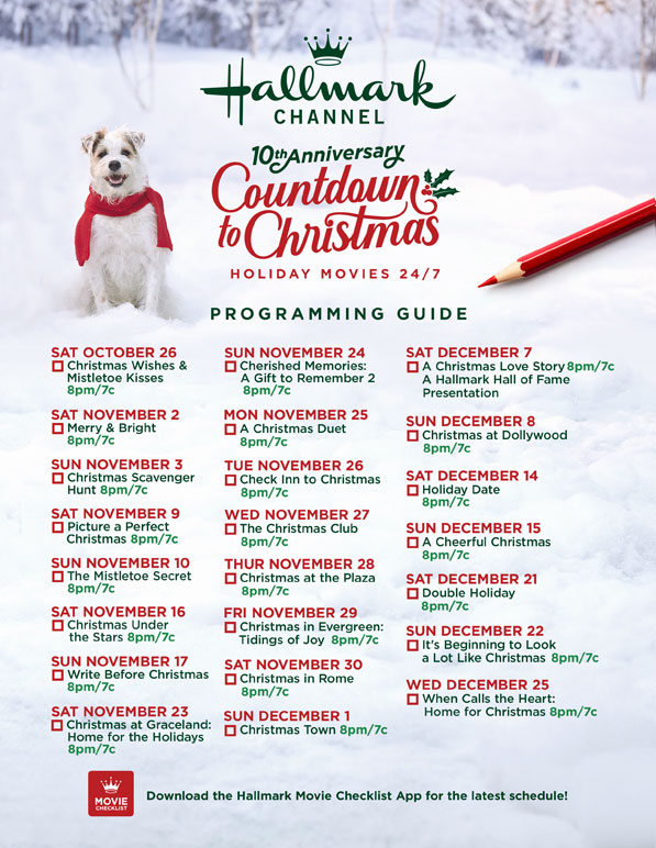 Hallmark 25 Days Of Christmas 2020 List Movie Guide 2019   Countdown to Christmas