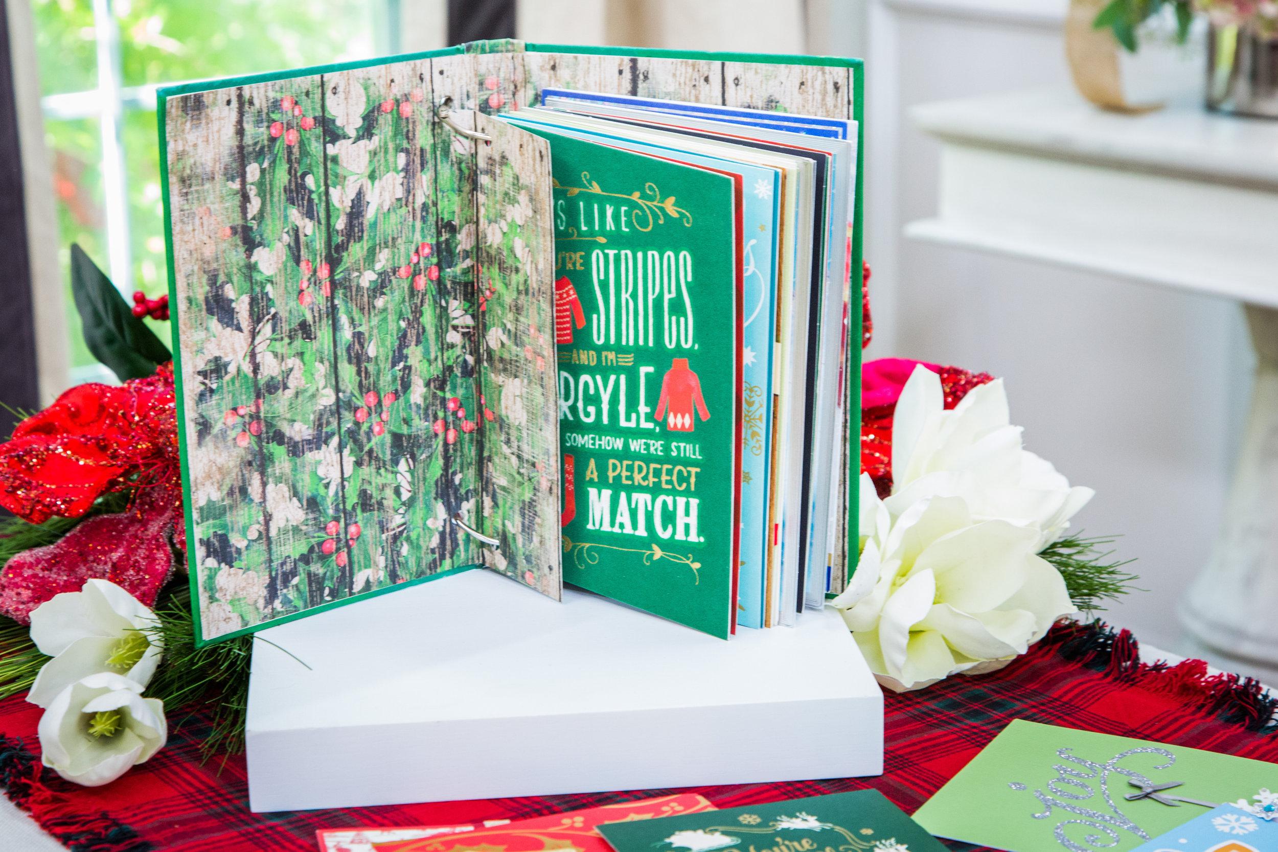 DIY Christmas Card Memory Book  Home & Family