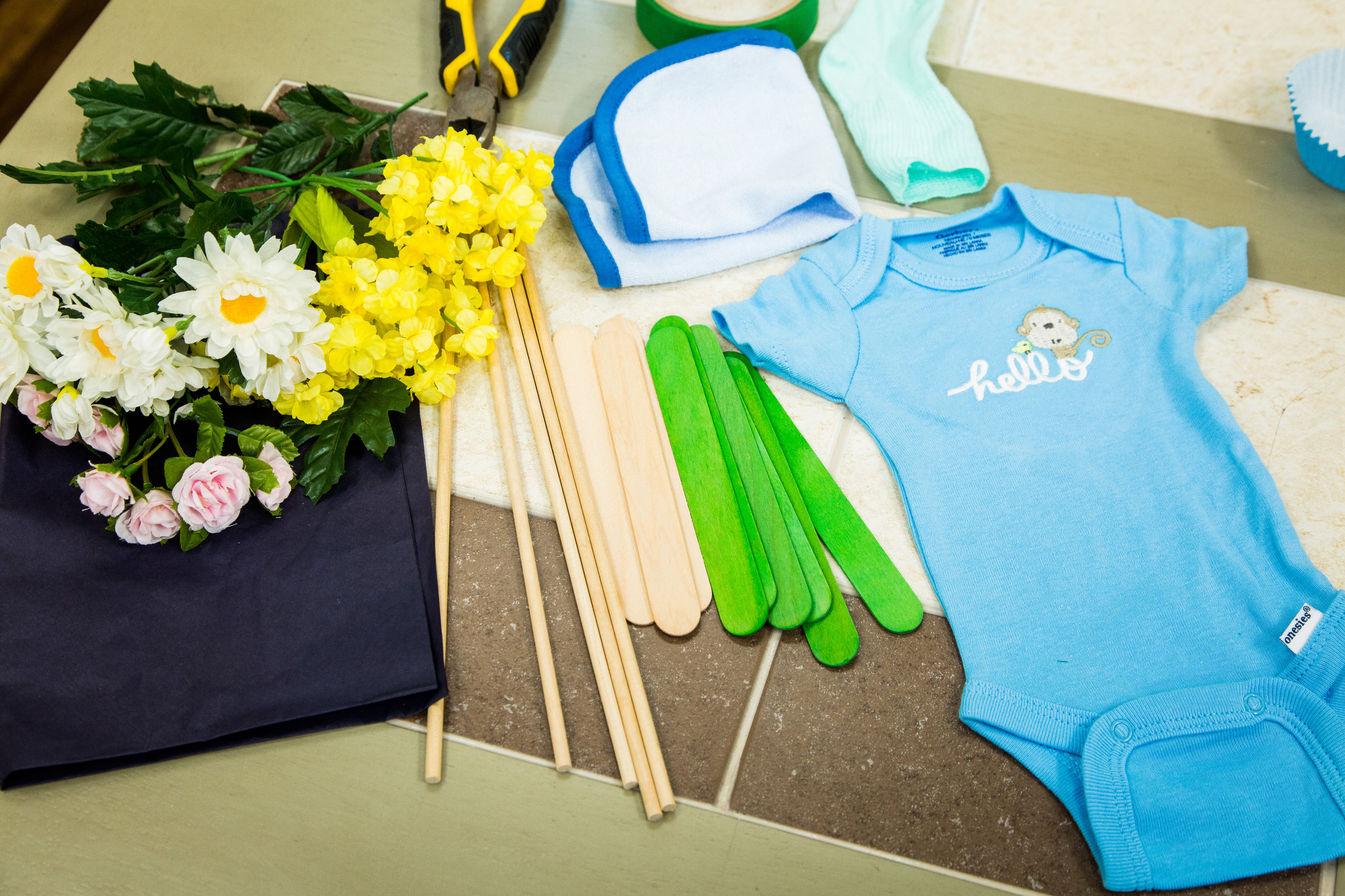 Diy Onesies Bouquets Home Family Video