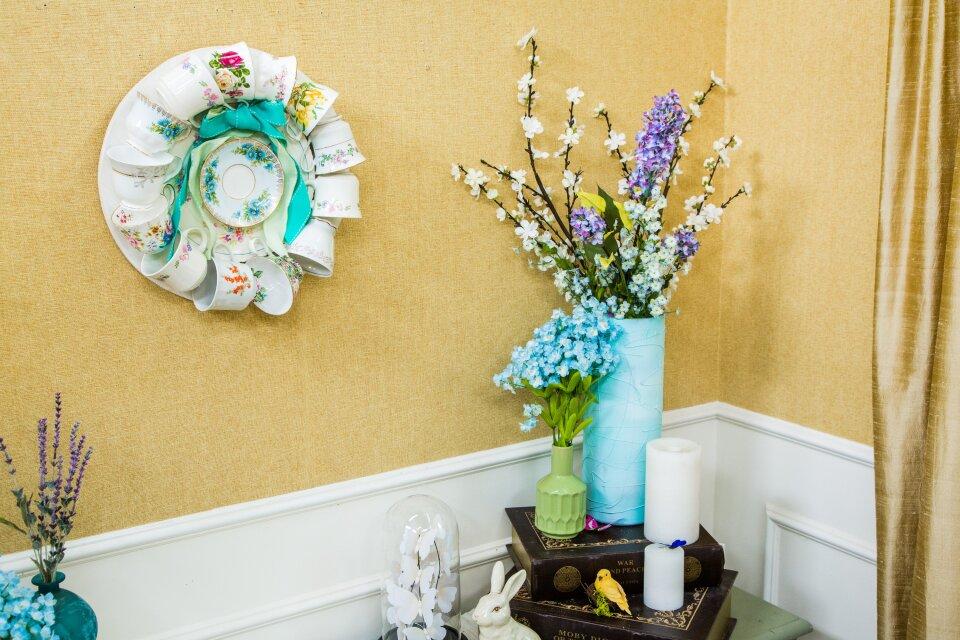 DIY Teacup Wreath