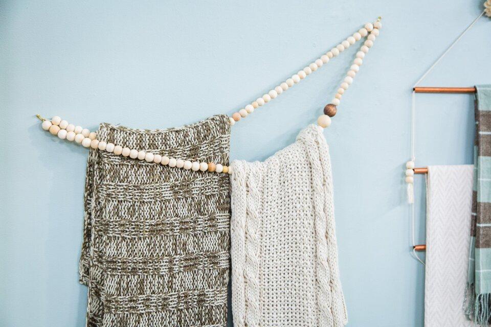 DIY Winter Blanket Holders