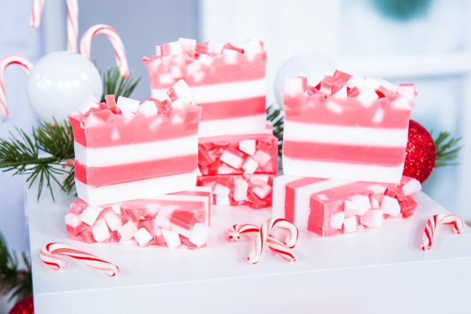DIY Candy Cane Soap
