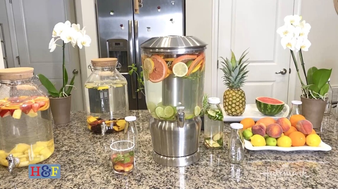 At Home With Our Family - Health Benefits Of Fruit Infused Water