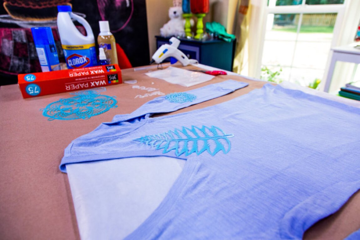 Bleach Stenciling with Tanya Memme
