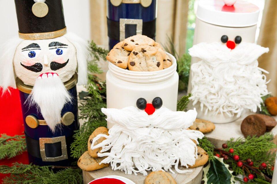 DIY Santa Cookie Canister