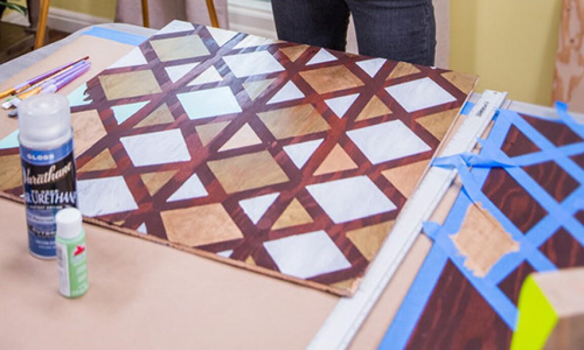 Jessie Jane's Geometric Wood Painting