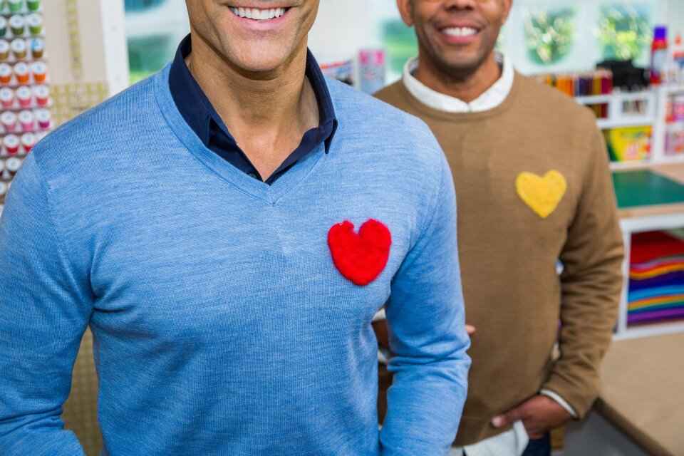 DIY Wool Heart Sweaters