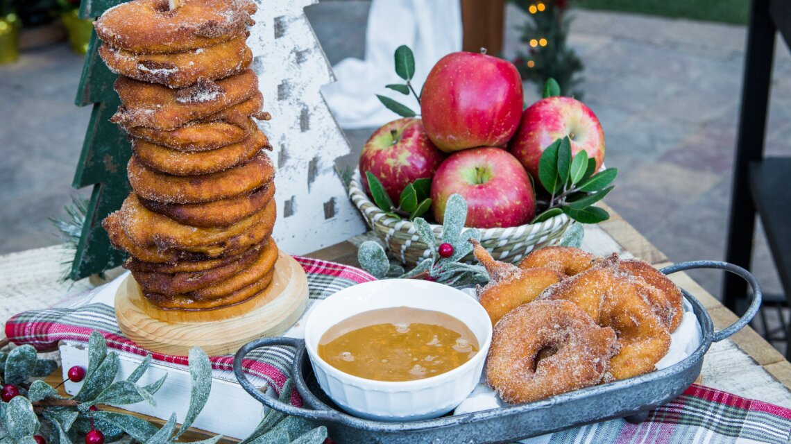 Kelly Senyei - Apple Fritter Rings With Caramel Sauce