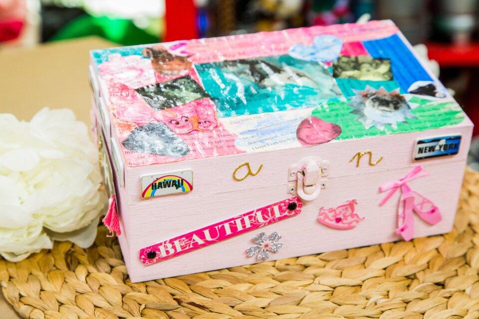 DIY Watercolor Kid's Jewelry Box