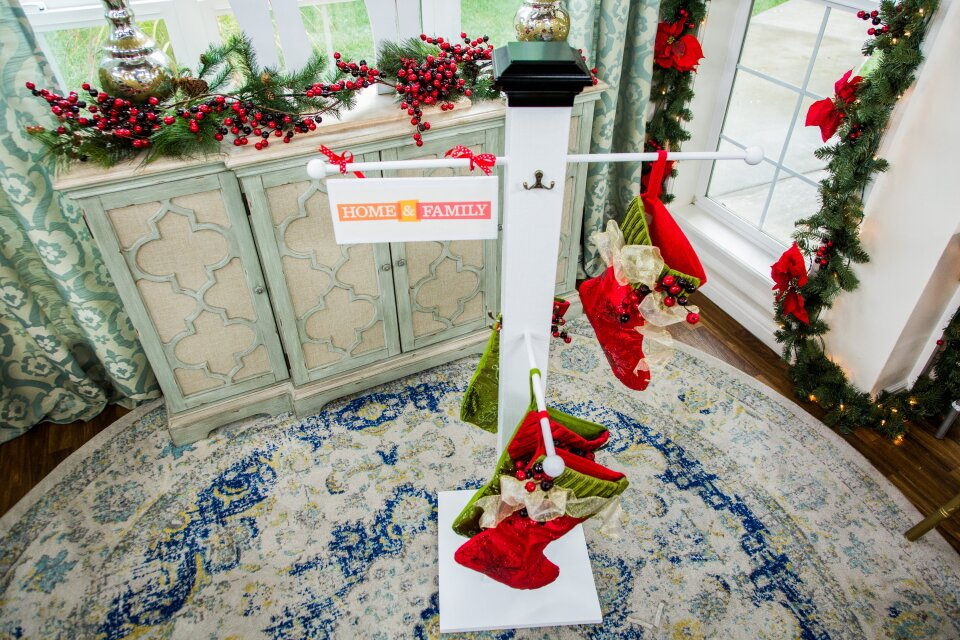 DIY Christmas Stocking Hanging Post