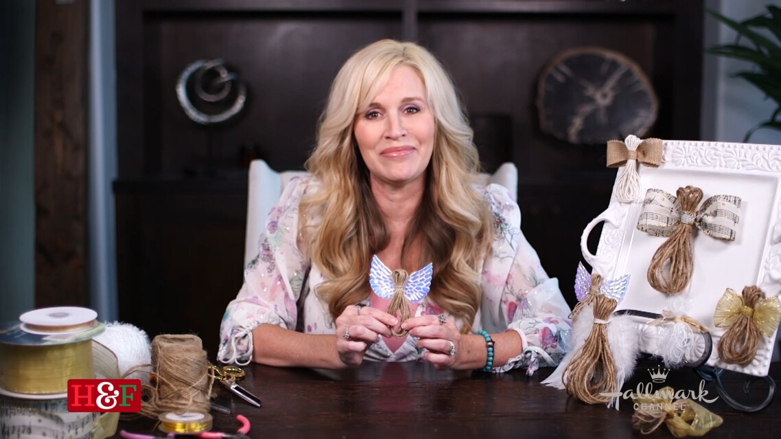 At Home With Our Family - Rustic Twine Angels