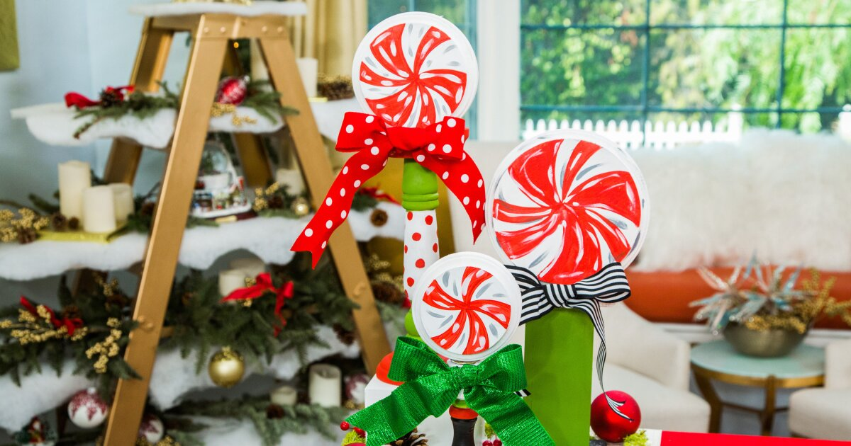 How To Diy Christmas Candlestick Lollipops