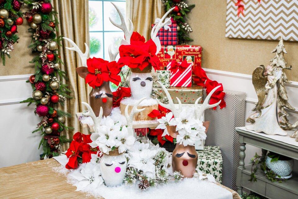 DIY Reindeer Vase