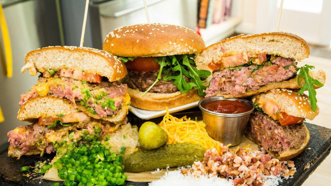 Recipes Super Stuffed Gourmet Burgers
