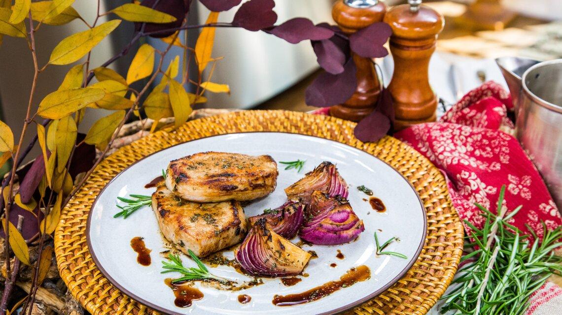Herb Brined Pork Chops