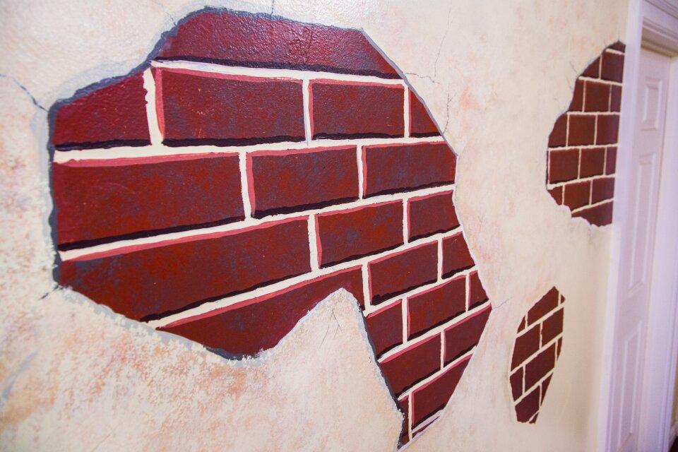 Paige's DIY Faux Brick Wall