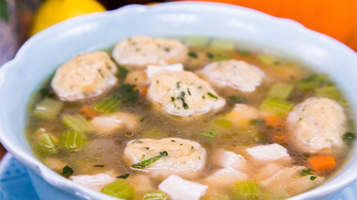 Cristina Ferrare's Roasted Leftover Turkey Soup with Dumplings