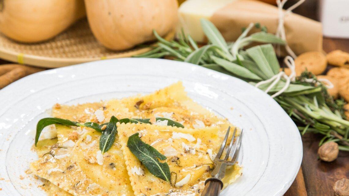 Chef Enzo Febbraro's Butternut Squash Ravioli