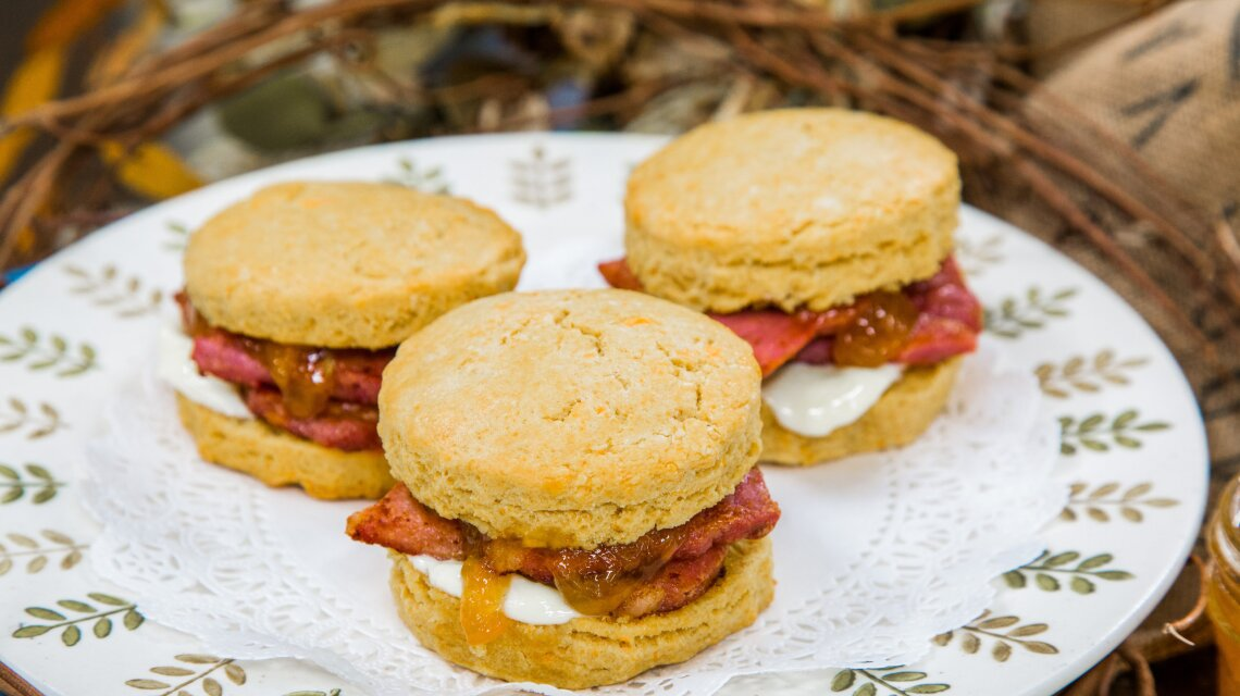 Sweet Potato Biscuits and Country Ham