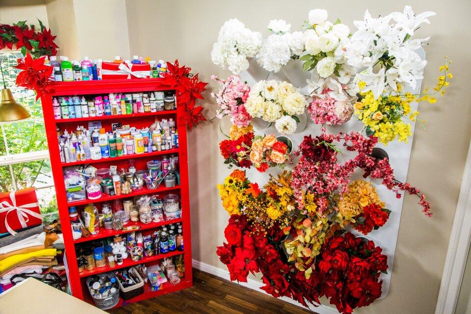 Faux Flower Storage