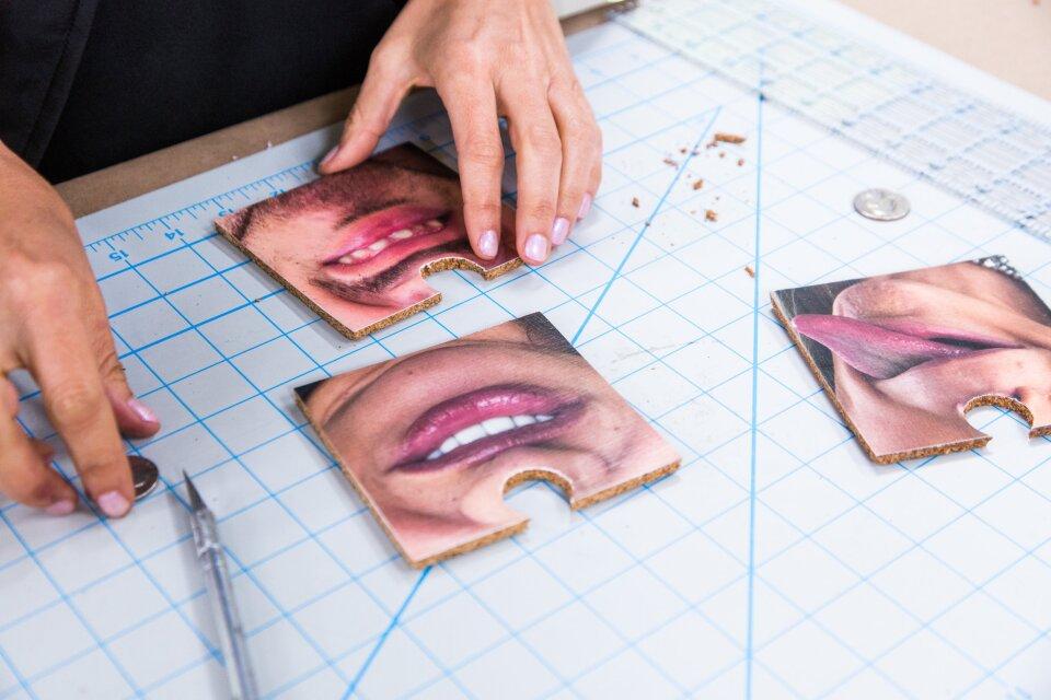 DIY Face Coasters