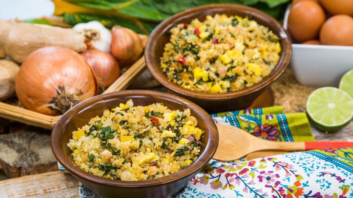"Quinoa ""Fried Rice"" with Rainbow Chard"