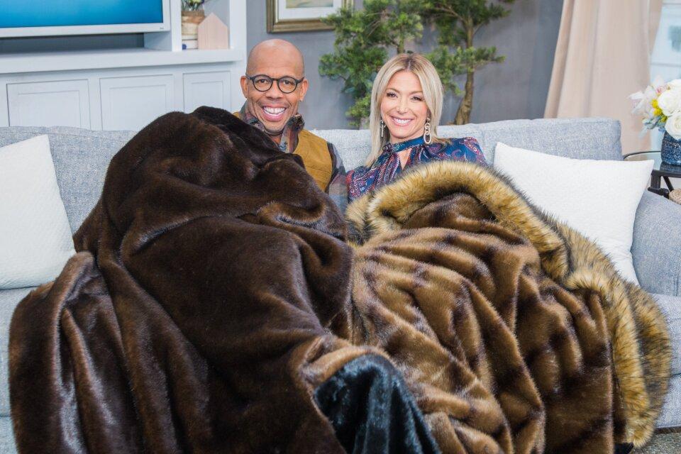 Faux Fur Patchwork Blanket