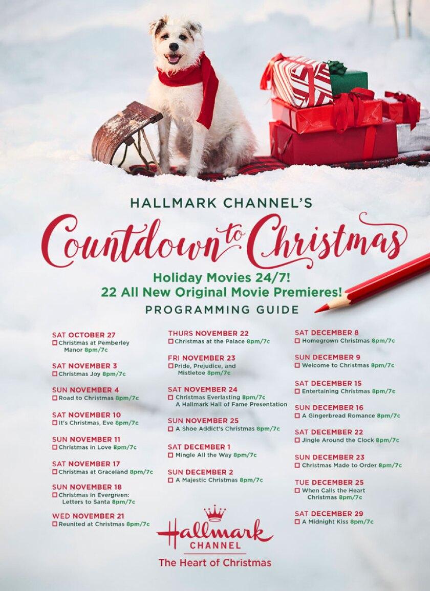 Schedule - Countdown to Christmas 2018 - Hallmark Channel
