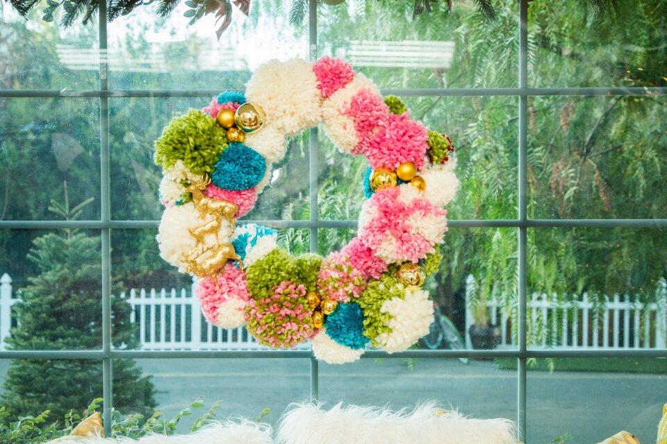 DIY Pom Pom Wreath & DIY Coaster