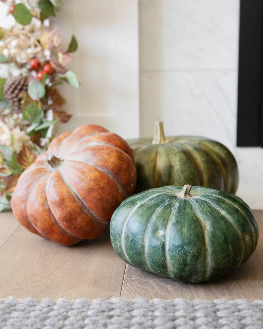Fall Home Decorating with Balsam Hill - Rustic Heirloom Pumpkins