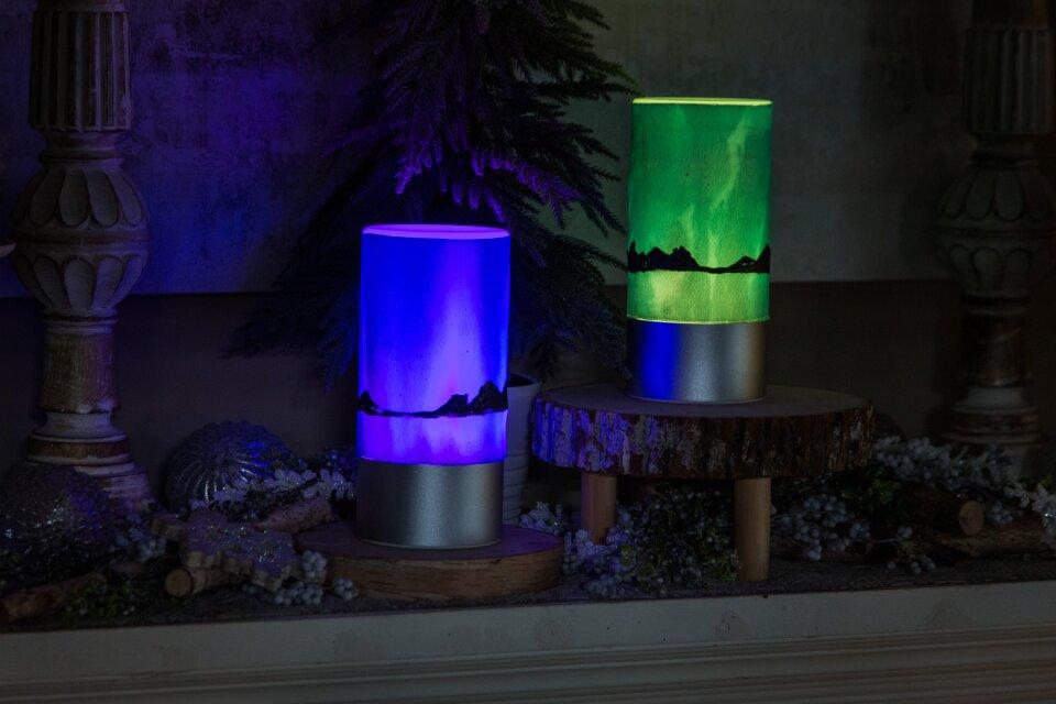DIY Northern Lights Lamp
