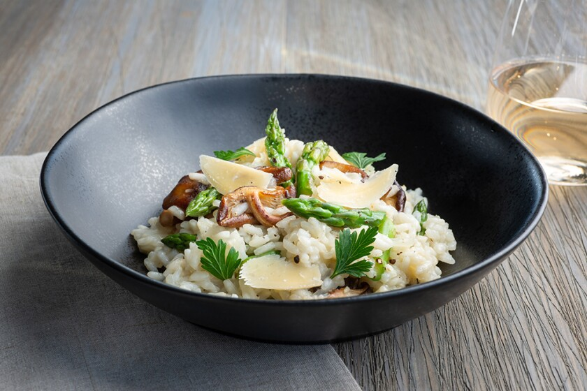 Asparagus and Wild Mushroom Risotto