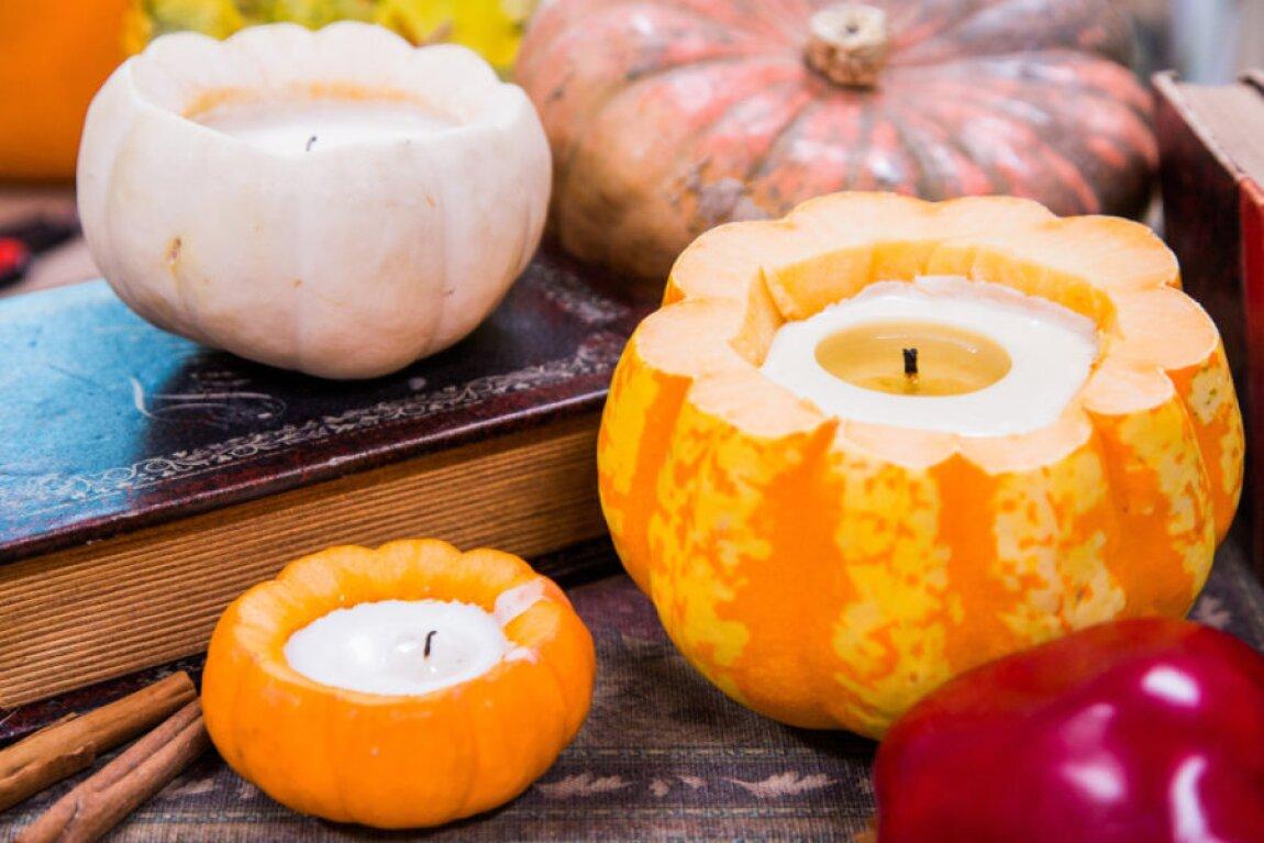 DIY Cinnamon Pumpkin Candles