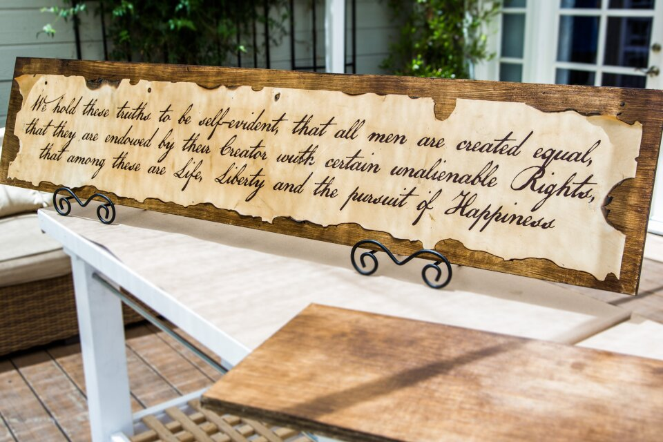 Declaration of Independence Wall Art