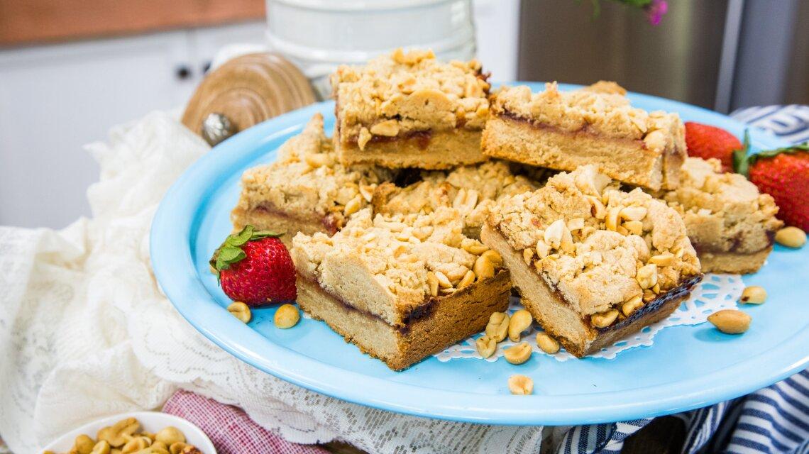 Marcel Cocit - Gluten- Free Peanut Butter & Jelly Bars