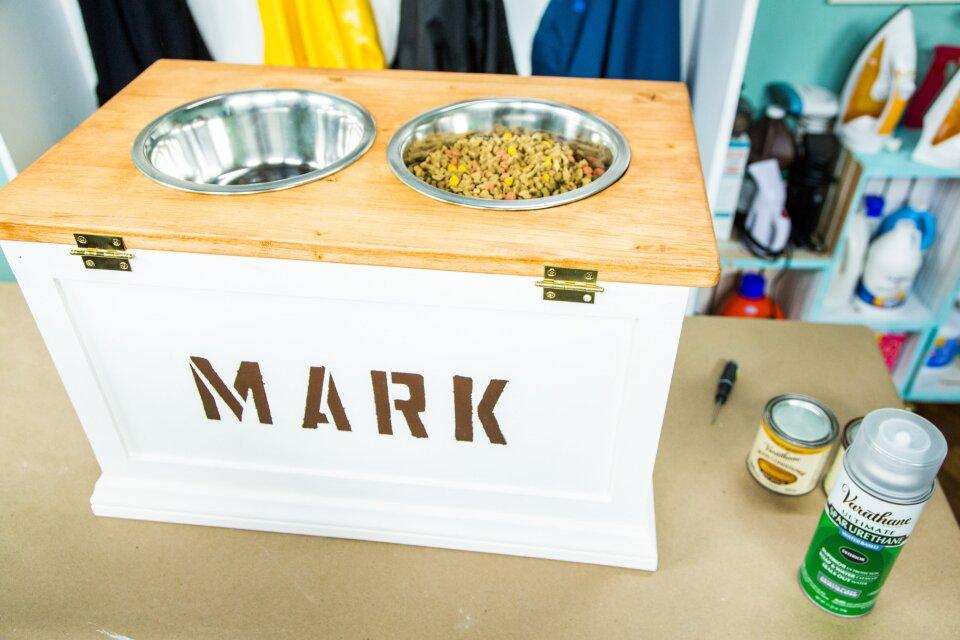 DIY Dog Bowl with Food Storage