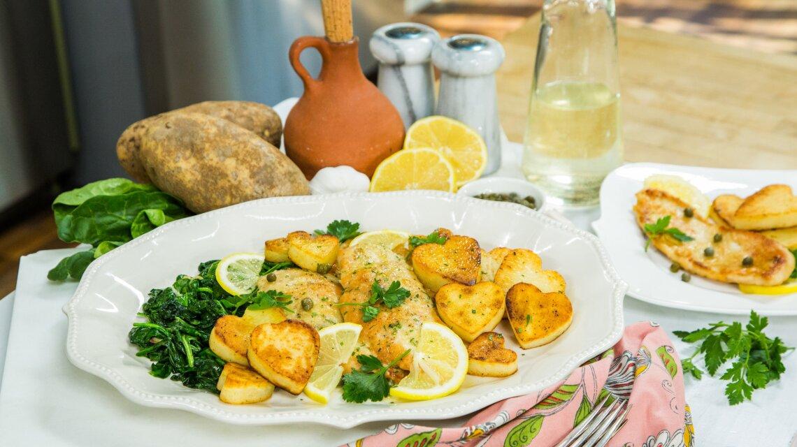 Chicken Piccata & Sauteed Spinach