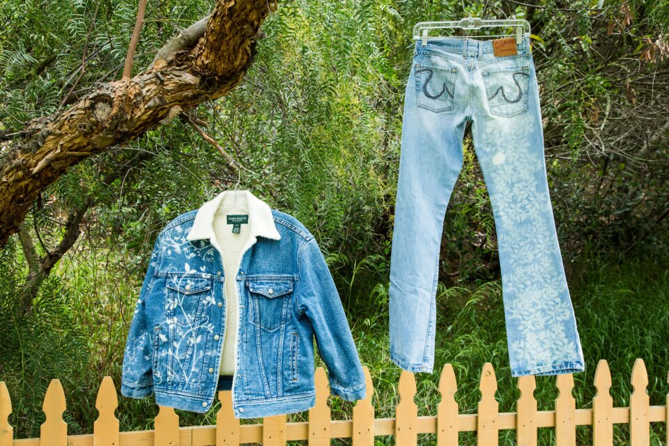 DIY Stenciled Jeans