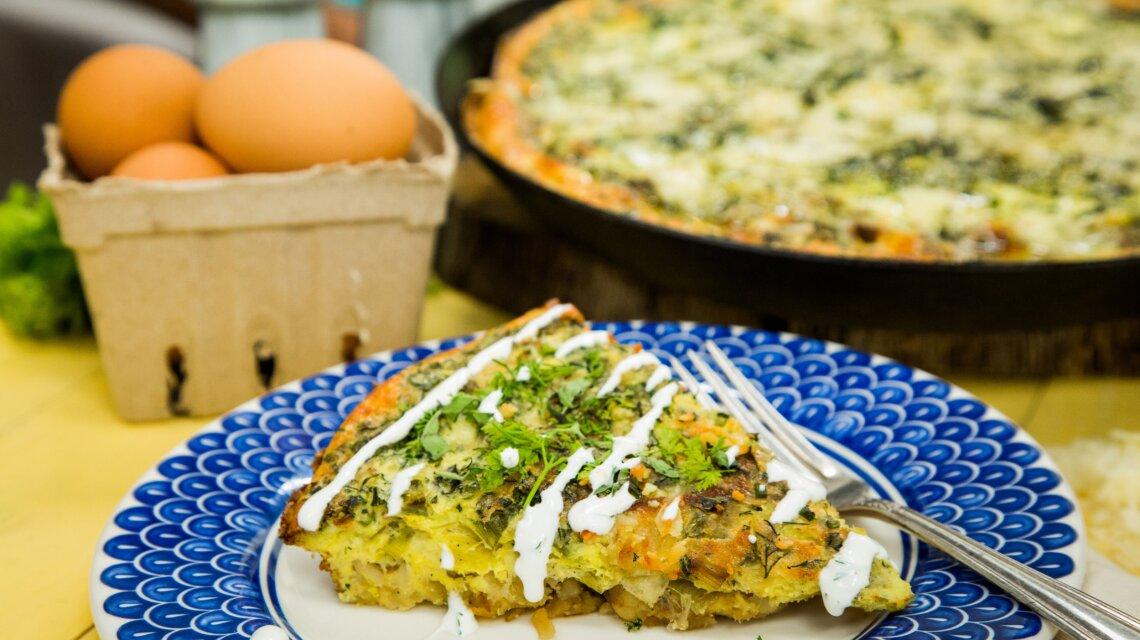 Hash Brown and Leek Frittata - Recipe