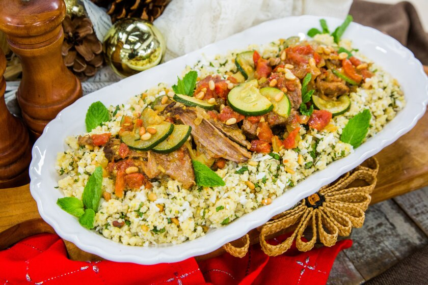 Slow-Cooked Lamb with Minty Millet