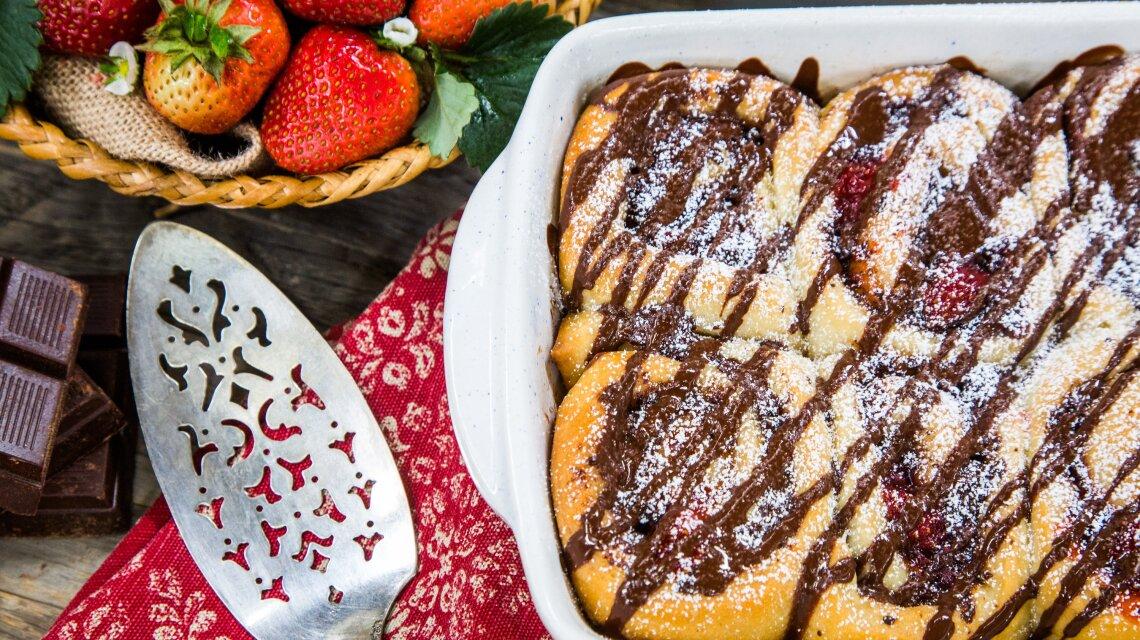 Strawberry Jam and Chocolate Rolls