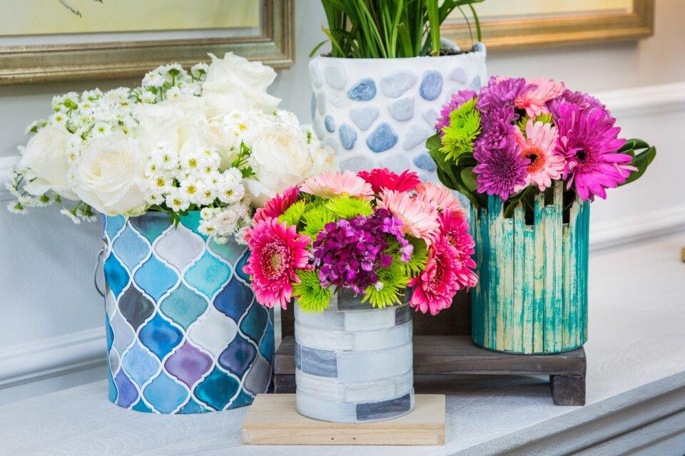 DIY Upcycled Vases