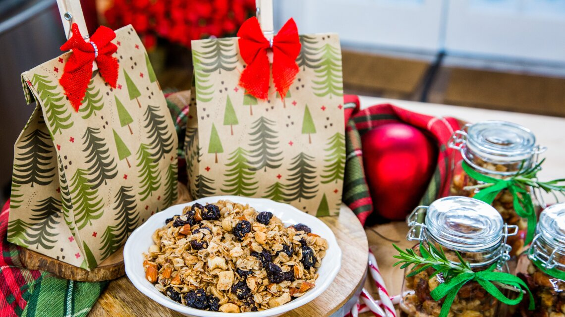 Holiday Granola and Spiced Nuts