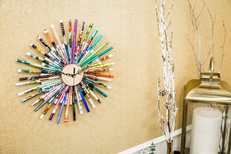 DIY Magazine Clock