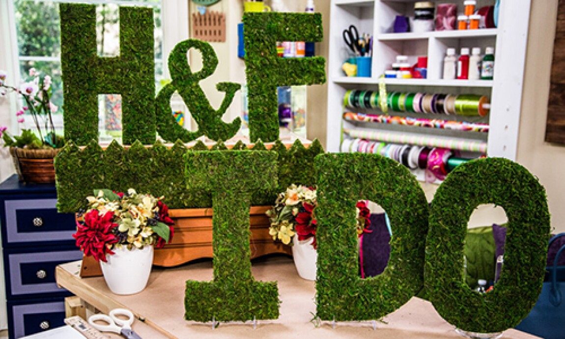 Wedding Series: DIY Moss Letters with Jessie Jane