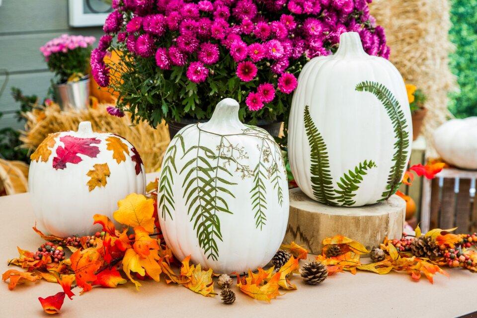 DIY Fall Leaf Pumpkin