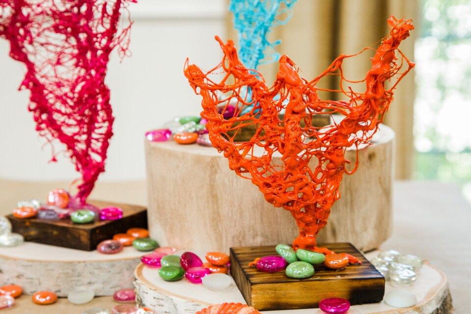 DIY Hot Glue Coral Art